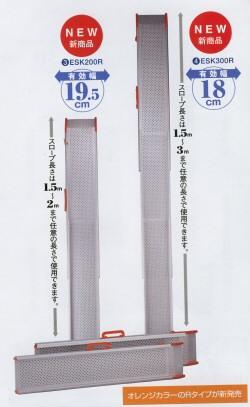 軽いスロープ設置 1本レールタイプ×2